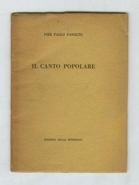 Il canto popolare (poesie italiane)