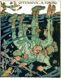 Antonio Rubino. Cartoline de La Tradotta. Prima serie